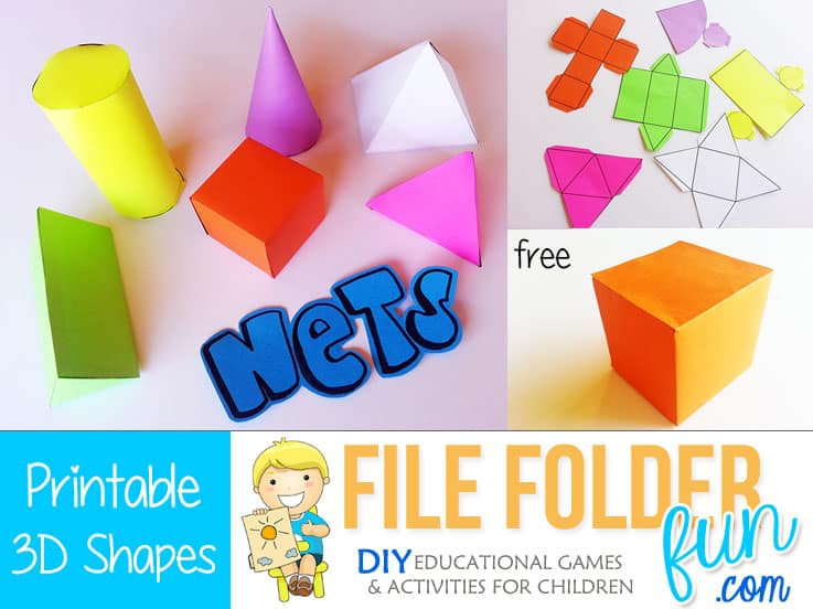 printable 3d nets file folder fun