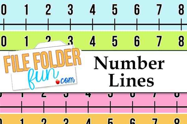 graphic regarding Number Lines Printable named Printable Amount Line - Document Folder Enjoyable