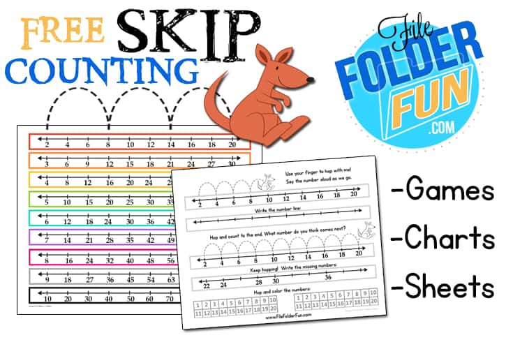 skip counting chart worksheets file folder fun. Black Bedroom Furniture Sets. Home Design Ideas