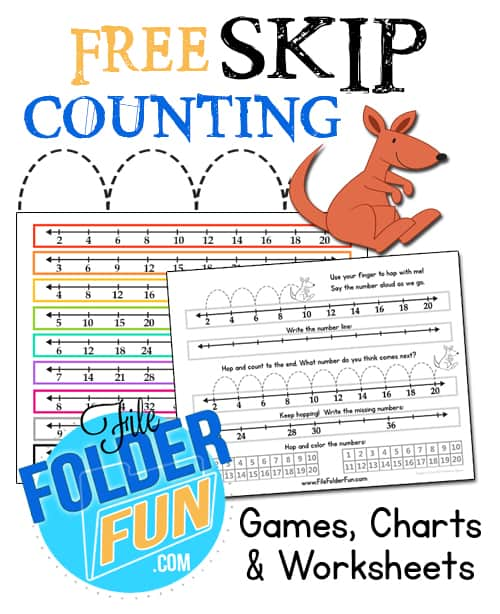 skip counting chart worksheets file folder fun. Black Bedroom Furniture Sets. Home Design Ideas