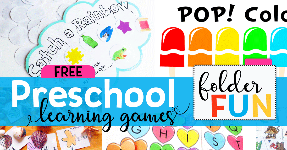 Preschool File Folder Games - File Folder Fun