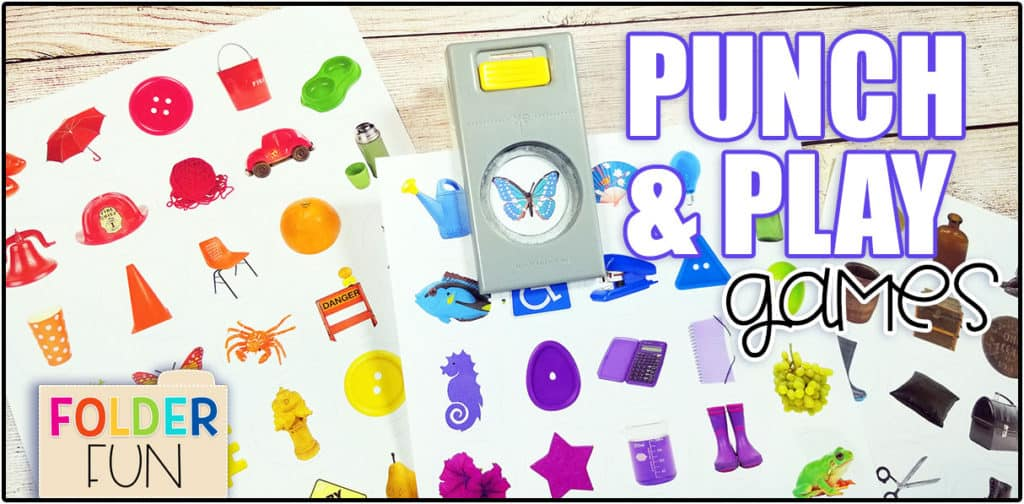 Circle Punch Games - File Folder Fun