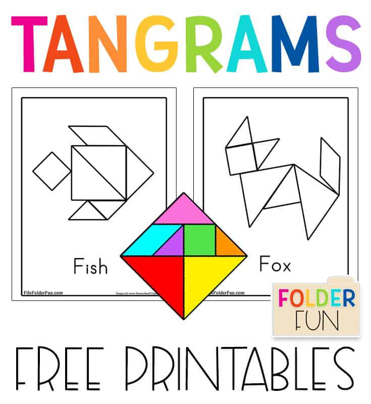 It's just a photo of Free Printable Tangram Puzzles with regard to beginner
