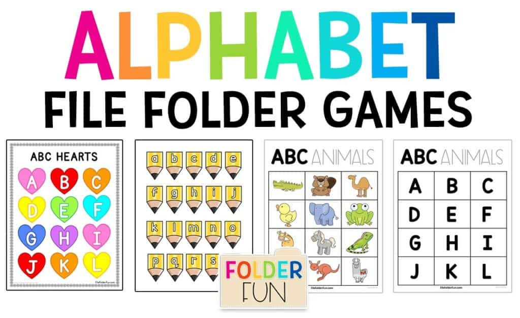 Alphabet File Folder Games - File Folder Fun